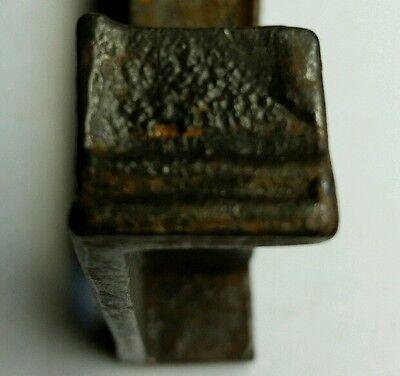 PAIR of 3 inch Cast Iron Door Rim Lock Keeper  Catch Strike Plate (#2) 4