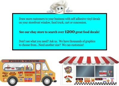 DECAL Food Truck Concession Sticker Choose Your Size Soft Pretzel Bites