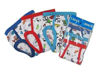 3 Boy/'s Mixed Color Briefs Underwear Cotton Blend Pack of 3 Size S M L XL B301