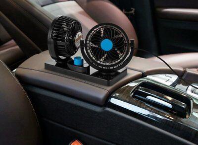 Doppio Ventilatore Per Auto Camion Camper Furgone 12V 24V Regolabile Aria Fresca 6