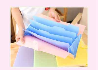 A4 Stud Wallet Folder Plastic Document Holder File With Press Stud DARK BLUEX 5