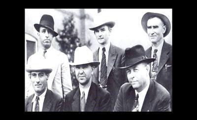 1934 Bonnie & Clyde Gang Killed PHOTO Texas Ranger Frank Hamer Posse Group Photo 2