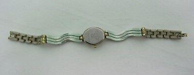 Vintage Quartz Harve Benard Wrist Watch Analog Pearl tone Face Bezel Metal Set 5