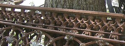 Antique Iron fence  panel Victorian Ornate 1880 3