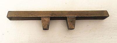 """Brass Mid Century Modern Drawer Pull Vintage  Antique Hardware  1 3/8"""" centers 5"""