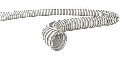 Tubo Spiralato PVC Rigido Bianco D.25mm Alimentare Travaso Irrigazione -10°+50 ° 2