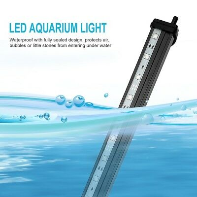LED Aquarium Lights Submersible Air Bubble RGB Light for Fish Tank Underwater AU 9