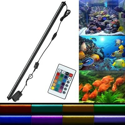LED Submersible Air Bubble Light Underwater Aquarium Fish Tank Bar with Remote 10