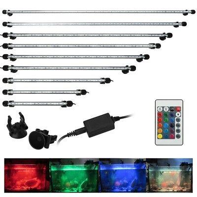 Aquarium Fish Tank 5050 SMD RGB White&Blue Color LED Light Bar Lamp Submersible 2