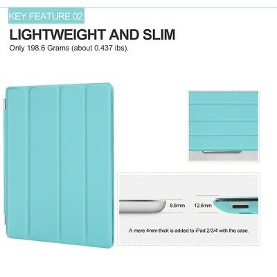 Slim Smart Magnetic Case Hard Back Stand Cover for iPad 6 5 4 3 2 iPad Mini/Air 8