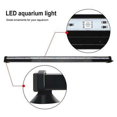 LED Aquarium Lights Submersible Air Bubble RGB Light for Fish Tank Underwater AU 6