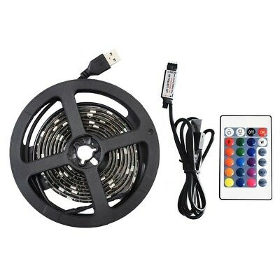 USB Powered RGB LED Strip Light Backlight for LCD TV PC Computer Case Monitor 5V 4