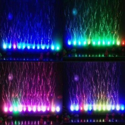 LED Aquarium Lights Submersible Air Bubble RGB Light for Fish Tank Underwater AU 5