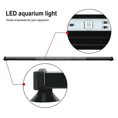 LED Submersible Air Bubble Light Underwater Aquarium Fish Tank Bar with Remote 6