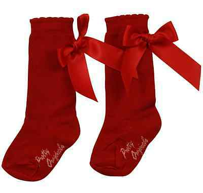 BNWT Girls Classic Knee Length Socks with Bows by Pretty Originals 8