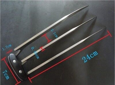"""1 Pair (2 pcs) Full Size 9.45"""" Stainless Steel X Men Wolverine Wolf Claws 2 lbs 7"""