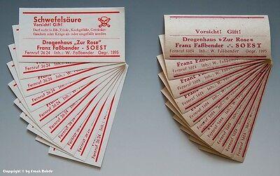 60 x Etiketten für Apotheken Flaschen um 1900-1960