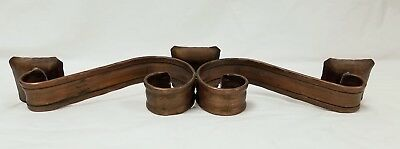 Pair of Vintage Antique Arts & Crafts Copper Candlesticks by Craftsman Studios 5