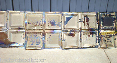 24 Iridescent Antique Carnival Ceiling Tin Tile Simple Elegant Frame Canvas Chic 3