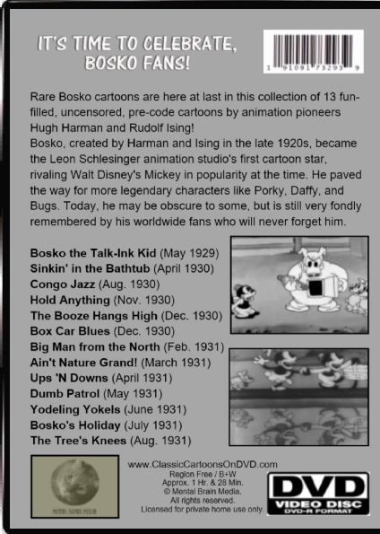 Bosko Classic Cartoon Collection Volume 1 Dvd Banned 1930s Looney Tunes Cartoons 13 99 Picclick