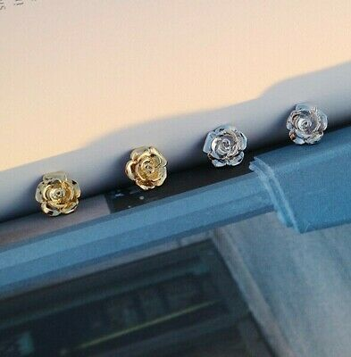 LEEVE Rose Gold Dipped Stud Earring Sterling Silver Post Korean trend Minimalism 4