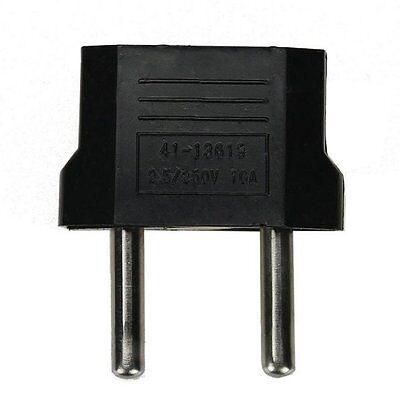 Hot 5Pcs US/USA to European Euro EU Travel Charger Adapter Plug Outlet Converter 3