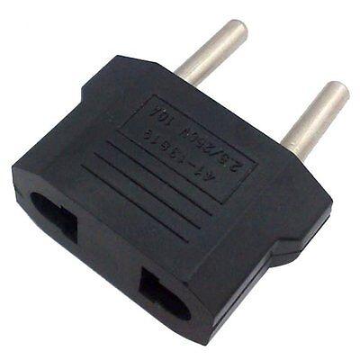 Hot 5Pcs US/USA to European Euro EU Travel Charger Adapter Plug Outlet Converter 2