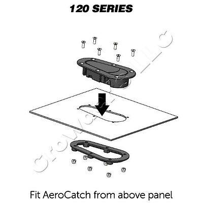 Part # 120-4000 AeroCatch Xtreme Plus Flush Hood Latch and Pin Kit Black