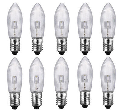 40 LED 0,2W E10 10-55V Topkerzen Riffelkerzen Spitzkerzen Ersatz Lichterkette BY 7