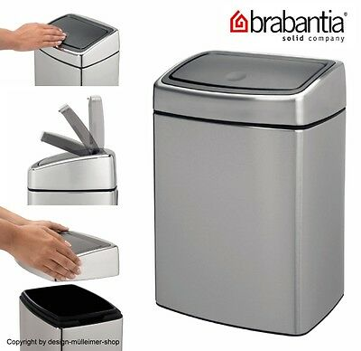 brabantia touch bin 10 kosmetikeimer m lleimer badeimer wandhalterung rostfrei eur 69 99. Black Bedroom Furniture Sets. Home Design Ideas