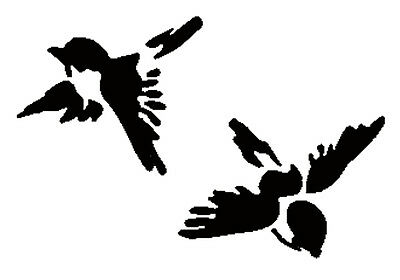 Shabby Chic stencil Birds Swallows Repeatable Rustic Mylar Vintage A4 297x210mm