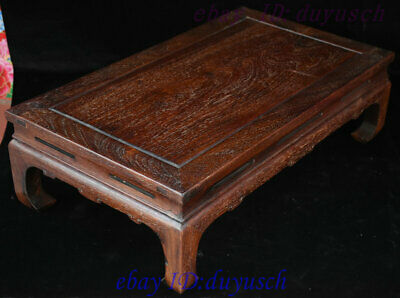 "24"" Old Chinese Huanghuali Wood handcrafted Furniture table Desk Tables Statue 7"