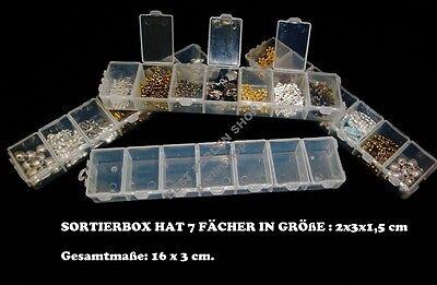 Perlenbox Perlen Box 5 stk SORTIERBOX MIT JEWEILS 12 FÄCHER SAMMELBOX B13#5
