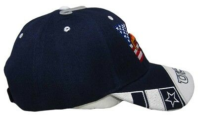 Waving USA American Bald Eagle White Bill Royal Blue Embroidered Cap CAP679 Hat