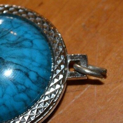 Costume Fashion Jewerly Beautiful Turquoise American Silver Pendant 13 Stars