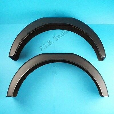 """2 x Deluxe Mudguards for 13"""" Wheels on Single Axle Trailer 30"""" x 8"""" 2"""