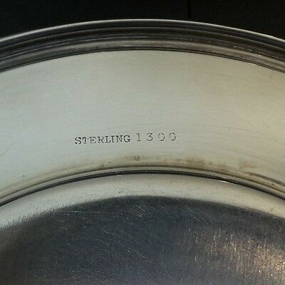 "Set/6 Whiting Mfg. Co. Sterling Silver 6"" Bread & Butter Plates, Monogram 7"