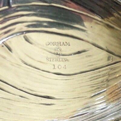 """ANTIQUE GORHAM / DURGIN """"IRIS"""" STERLING SILVER 8"""" NUT / CANDY DISH, 107 grams 8"""