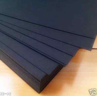 20x A4 Black Kraft Paper Sheet 80GSM Card Natural Recycled Invitation Wedding