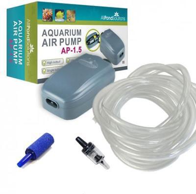 Aquarium Fish Tank Tropical Air Pump - FREE Stones, Hose, Return Valve 90-180L/H 3