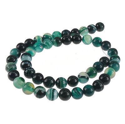 Natürliche Streifen Achat Perlen Indische Sapphire Blau 6mm Edelsteine BEST G22