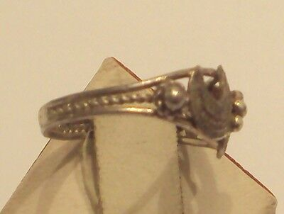 Excellent Early 20Th Century Silver Ring With Open-Work // 887 3