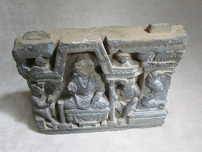 ANCIENT GANDHARAN SCHIST STONE SCULPTURE OF THE BUDDHA, circa 200 AD 5
