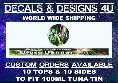 Press it in pressitin ring pull tuna tin sticker 100ml/3.5g  Tin Labels 10 Sets 5
