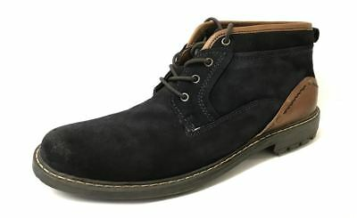 Moshulu Mens Suede Leather Heavy Tread Sole Lace Up Ankle Chukka Boots Shoes