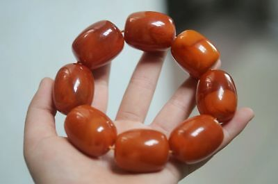 8 GRAINS FINE CHINESE NATURAL BEESWAX BEADS WEAVE LUCKY BRACELET h717 6