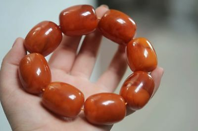 8 GRAINS FINE CHINESE NATURAL BEESWAX BEADS WEAVE LUCKY BRACELET h717 4