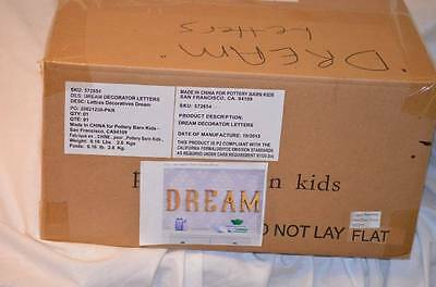"NIB Pottery Barn Kids ""Dream"" Decorator Letter Set Wall Letters Decor 3"