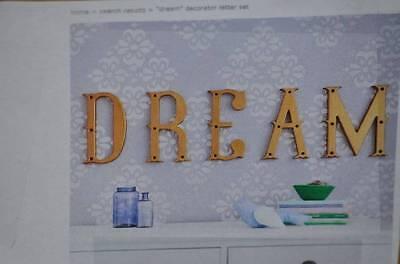 "NIB Pottery Barn Kids ""Dream"" Decorator Letter Set Wall Letters Decor 2"