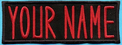 ADULT Custom Ghostbusters Embroidered Name Tag Patch  [IRON-ON]  -- YOUR NAME 2